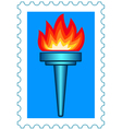 Torch stamp vector image