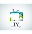 TV logo template vector image