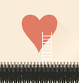 Stairs to heart vector image
