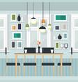 interior dinner room vector image