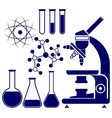 science and chemistry icons set vector image