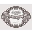 elegant vintage label with floral vector image vector image