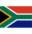 The mosaic flag of South Africa vector image