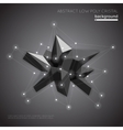 Abstract low poly crystal background Low polygon vector image