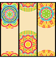 Bright Ethnic Patterns at Set of Cards vector image