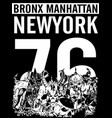 bronx new york sport typography t-shirt graphics vector image