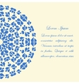 Card design with blue round pattern vector image