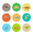 Dinosaurs flat icons vector image