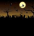 Happy Halloween Pumpkin in moon night on black sky vector image
