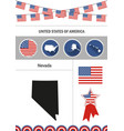 map of nevada set of flat design icons vector image