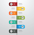 Modern design time line style infographic template vector image