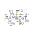 Modern thin line design concept for payment vector image