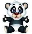 panda cartoon sitting vector image