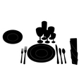 Table layout vector image