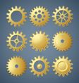 Golden cogwheels vector image vector image