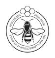 Retro honeybee beekeeper honey logo vector image