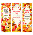 fast food restaurant menu banners vector image