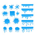 set of water drops and blots vector image