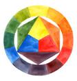 hand drawn watercolor color wheel vector image