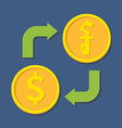 Currency exchange Dollar and Riel vector image