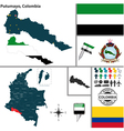 Map of Putumayo vector image vector image
