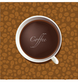 cup of coffee on background vector image vector image
