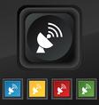 Satellite antenna icon symbol Set of five colorful vector image