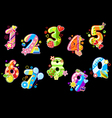 birthday numbers vector image