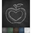 apple icon Hand drawn vector image