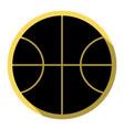 basketball ball sign flat vector image