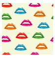 bright colored lips seamless pattern vector image