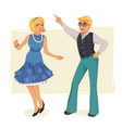 dancing people in retro style vector image