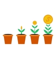 Four stages of financial growth vector image