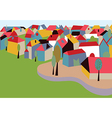 Houses in the town card vector image