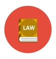 Law book icon flat vector image