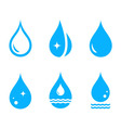 set droplet icons vector image