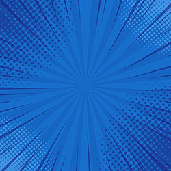abstract blue striped retro comic background vector