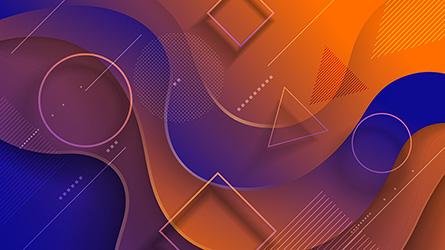 futuristic memphis background vector