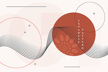 geometric japanese background with decorative vector