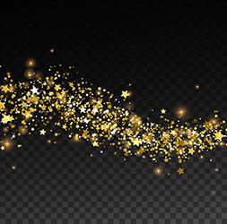 glittering golden stream sparkles vector