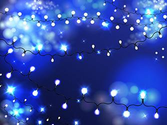 holiday illumination bulb garland realistic vector