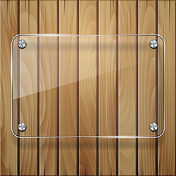 wooden texture with glass framework vector